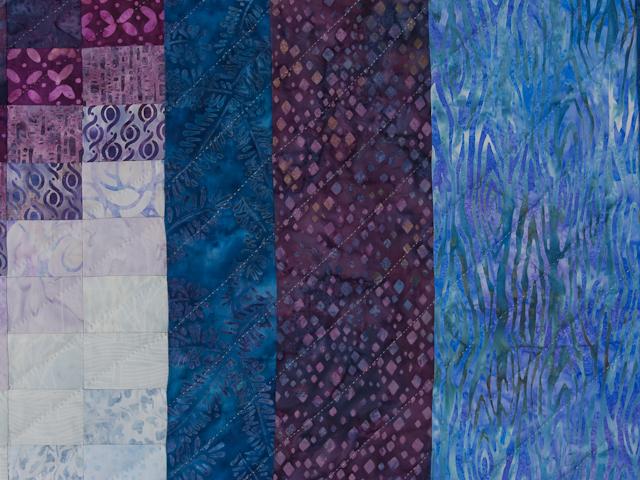 Bargello Flame Batik style fabrics  King size bed Photo 5