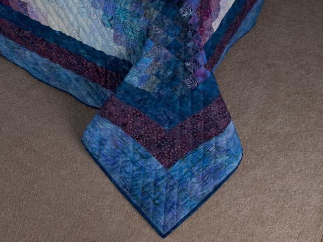 Bargello Flame Batik style fabrics  King size bed Photo 7