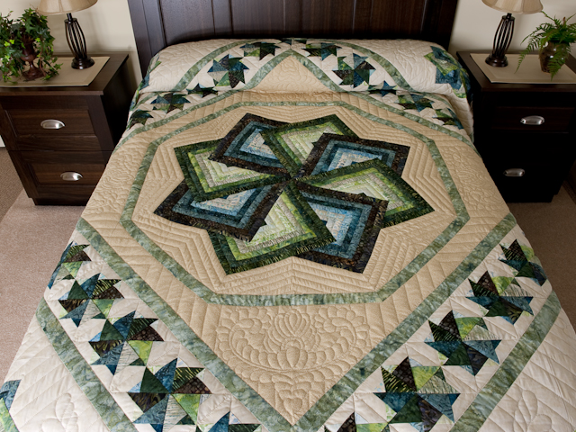 Star Spin in Batiks 