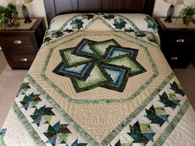 Star Spin in Batiks  King Bed Size Photo 1
