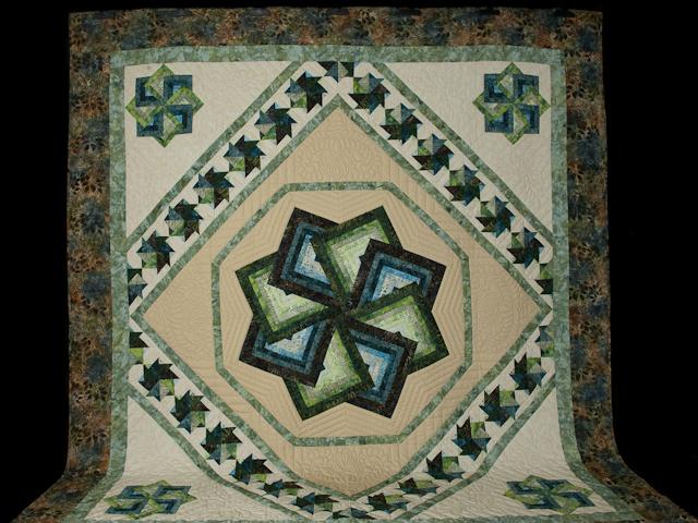 Star Spin in Batiks  King Bed Size Photo 2