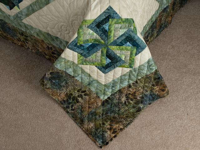 Star Spin in Batiks  King Bed Size Photo 7