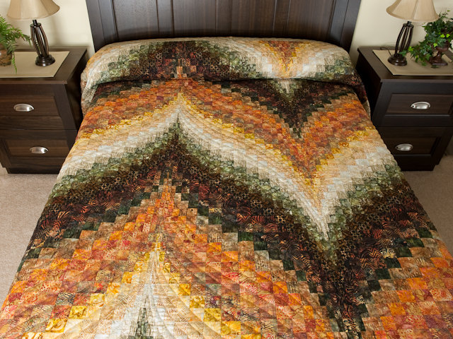 Bargello Flame Batik style fabrics 