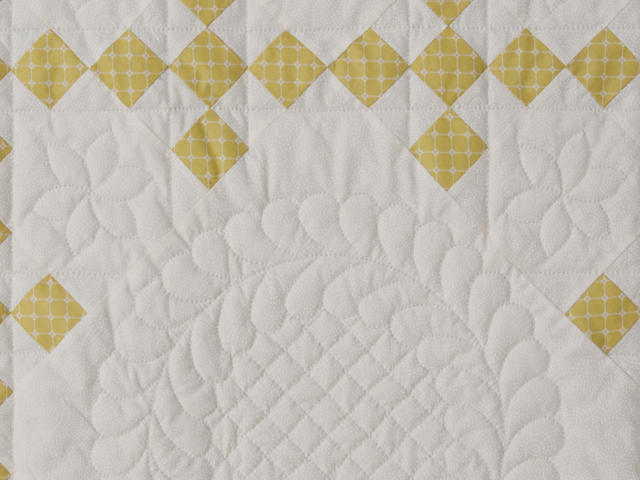 Artichoke green and Ivory  Nine Patch KING Quilt Photo 4