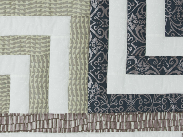 Mesmerize - Modern Grays and Taupes Queen size bed quilt Photo 5