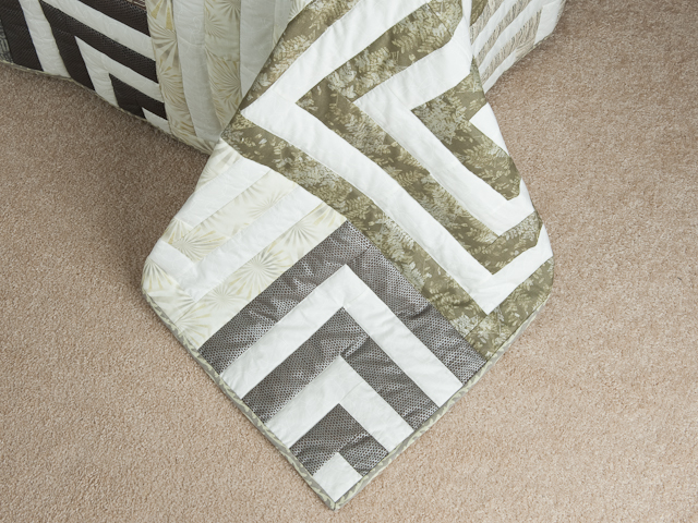 Mesmerize - Modern Grays and Taupes Queen size bed quilt Photo 7