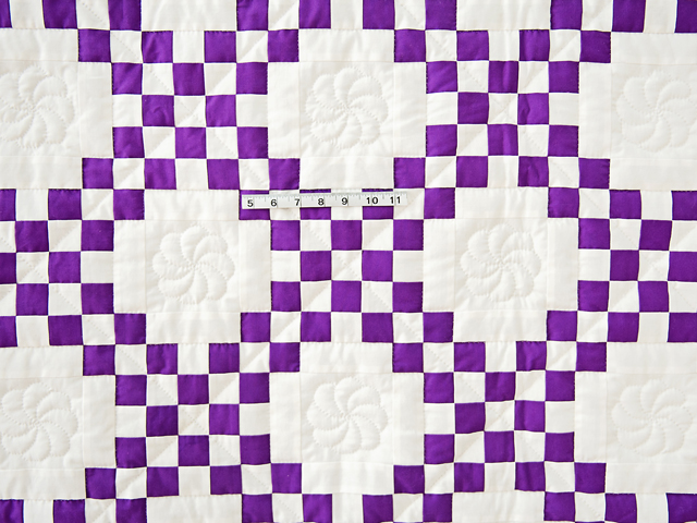 Classic Purple and White Irish Chain Photo 4