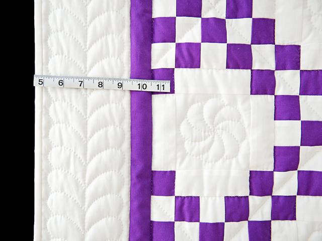 Classic Purple and White Irish Chain Photo 5