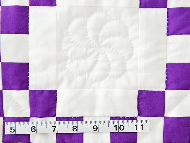 Classic Purple and White Irish Chain Photo 6