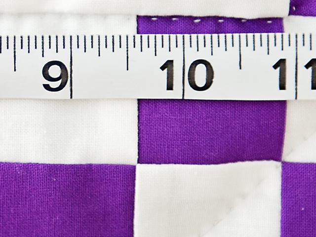 Classic Purple and White Irish Chain Photo 8
