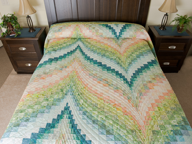 Bargello Flame - Gentle spring breeze Queen Bed Size Photo 1