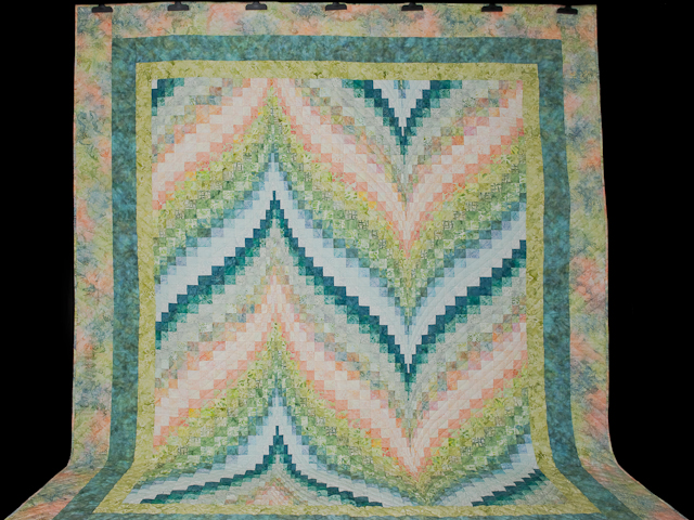 Bargello Flame - Gentle spring breeze Queen Bed Size Photo 2