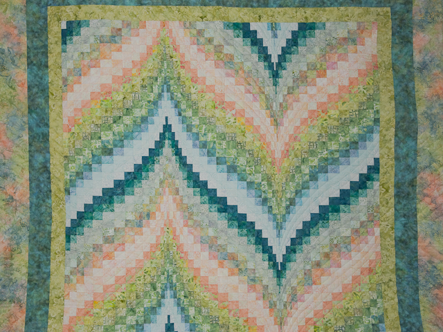 Bargello Flame - Gentle spring breeze Queen Bed Size Photo 3