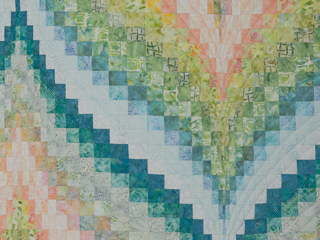 Bargello Flame - Gentle spring breeze Queen Bed Size Photo 4