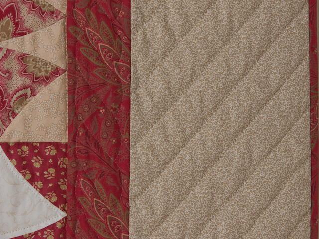 Winding Ways - King Size Vintage Creams and Reds Photo 5