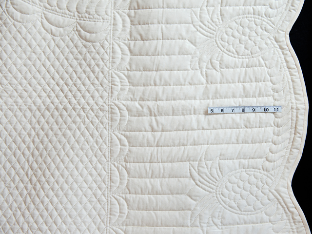 Queen All-Quilted Pineapple Quilt Photo 5