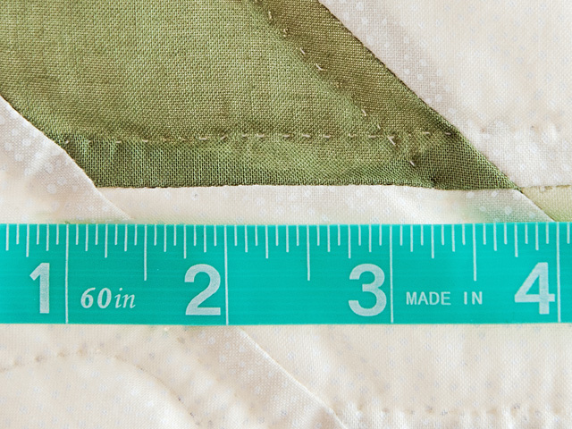 Soft Greens  and Cream Lone Star Log Cabin Quilt Photo 8