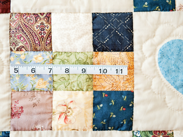 King Burgundy and Multicolor Hearts and Nine Patch Quilt Photo 6