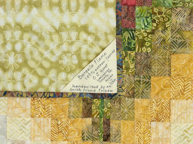 Bargello Flame Batik style fabrics  King size bed Photo 6