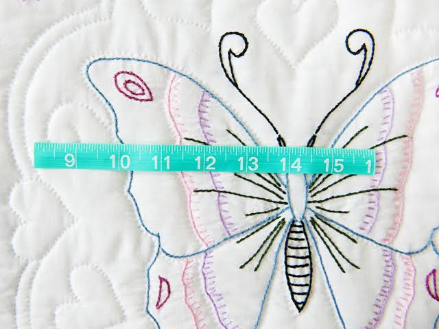 Basket and Butterfly Embroidered Quilt Photo 6