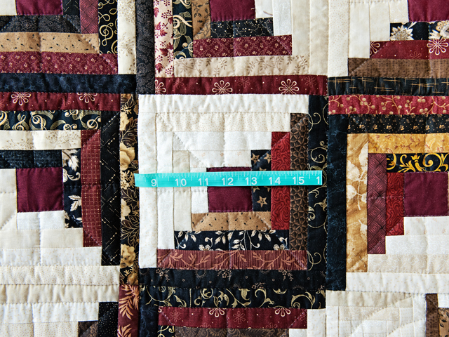 Earthtones Log Cabin with Stars Quilt Photo 5