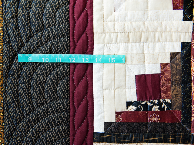 Earthtones Log Cabin with Stars Quilt Photo 6