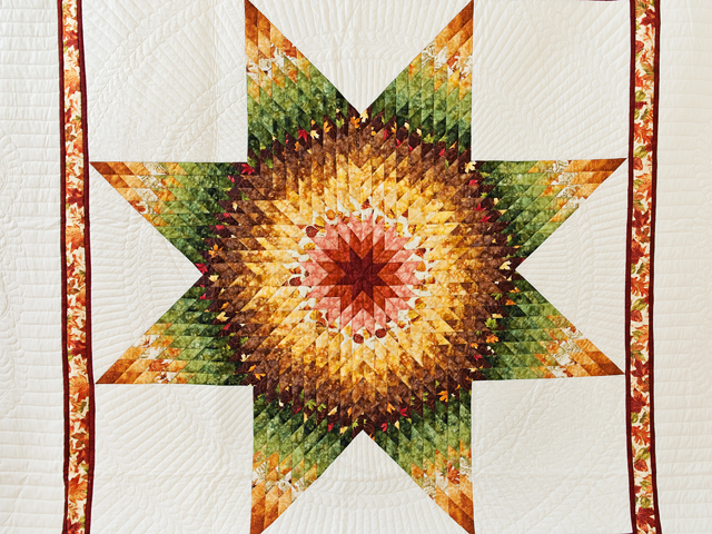 Autumn Lone Star Quilt Photo 3