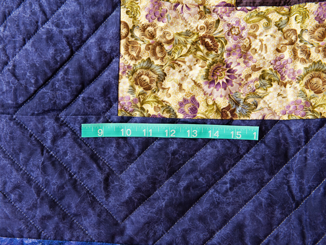 Purple, Green and Gold Bargello Wave Quilt Photo 6