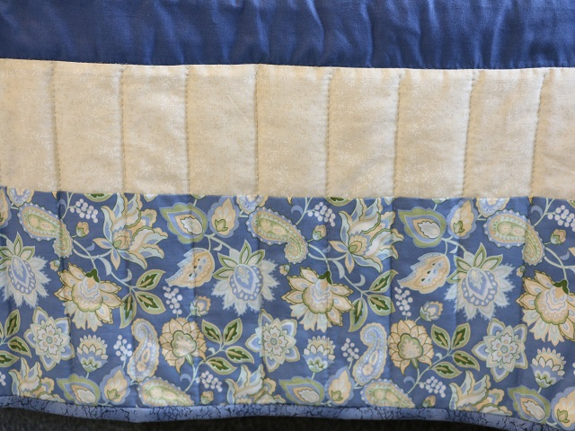 Blue and Yellow Lone Star Log Cabin Quilt Photo 7