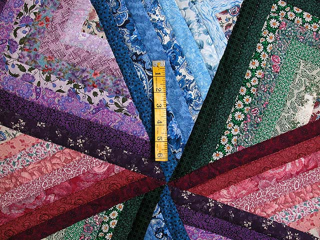 Multicolor Tan and Burgundy Star Spin Quilt Photo 4