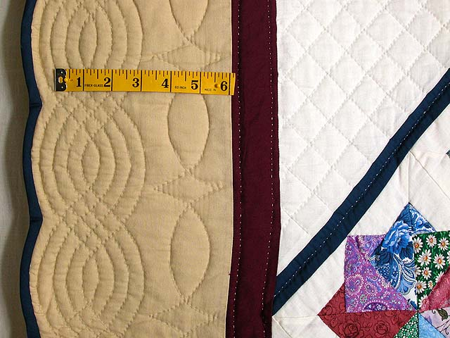 Multicolor Tan and Burgundy Star Spin Quilt Photo 7