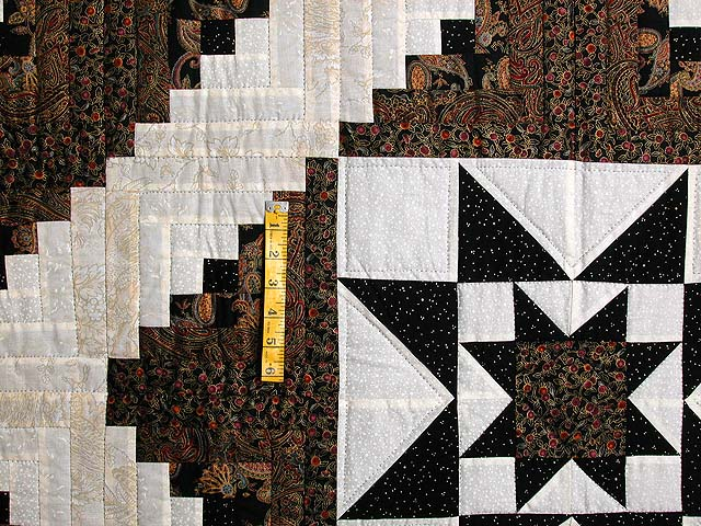 Black and Gold Vermont Star Quilt Photo 4