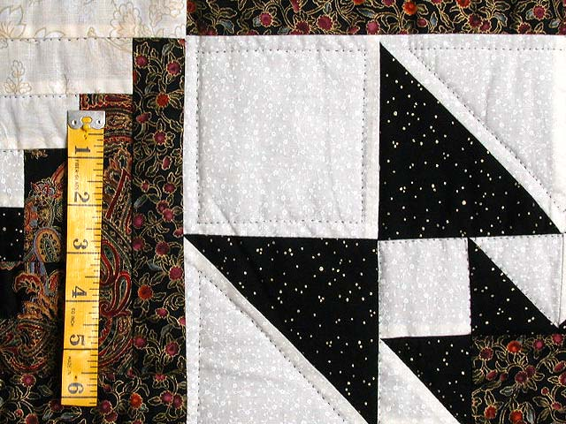 Black and Gold Vermont Star Quilt Photo 5