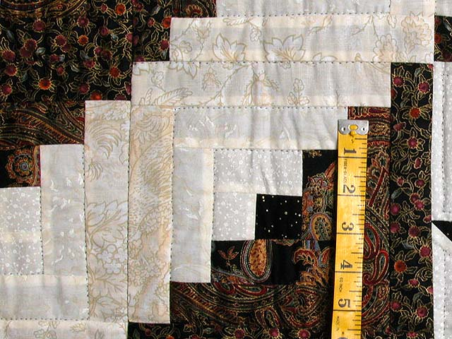 Black and Gold Vermont Star Quilt Photo 6