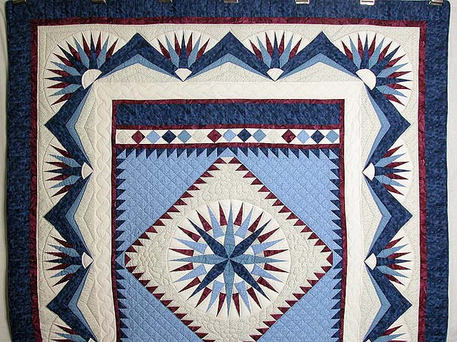 Mariners Compass Quilt Exquisite Well Made Amish Quilts From Mesmerizing Mariners Compass Quilt Pattern