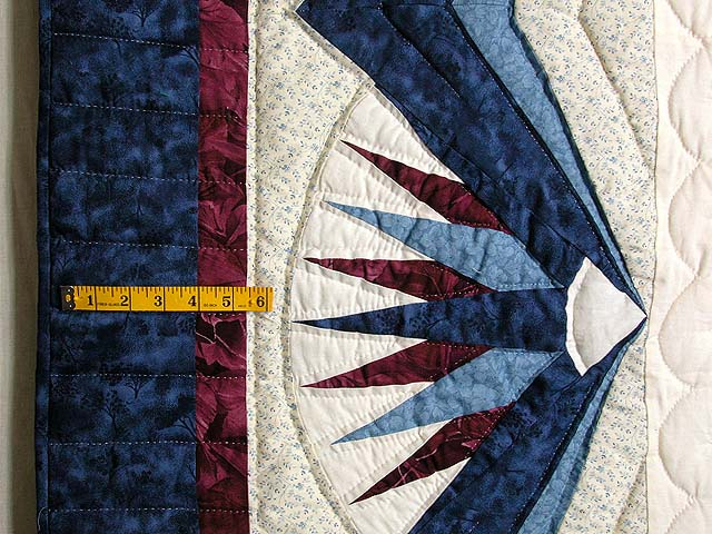 Blue and Burgundy Mariners Compass Quilt Photo 6