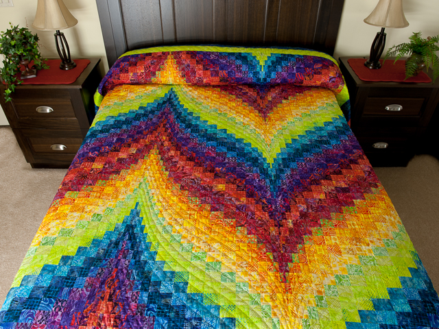 Bargello Flame - Brilliant ! Double/Queen bed size Photo 1