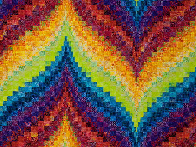 Bargello Flame - Brilliant ! Double/Queen bed size Photo 3
