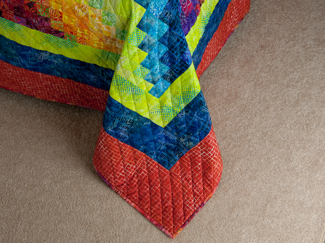 Bargello Flame - Brilliant ! Double/Queen bed size Photo 7