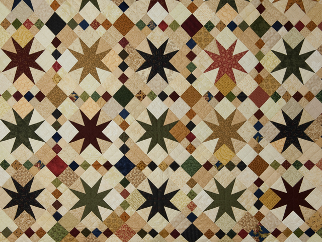 Queen Burgundy Gold Tan Navy Green 