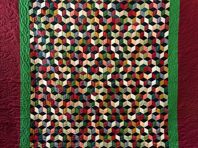 Amish Tumbling Blocks Quilt Photo 3