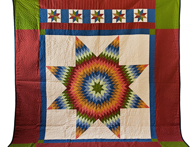 King Southwest Colors Lone Star Quilt Photo 2