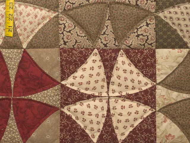 Queen Civil War Colors Winding Ways Quilt Photo 6