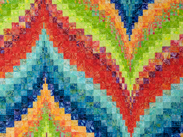 Bargello Flame - Brilliant Batiks