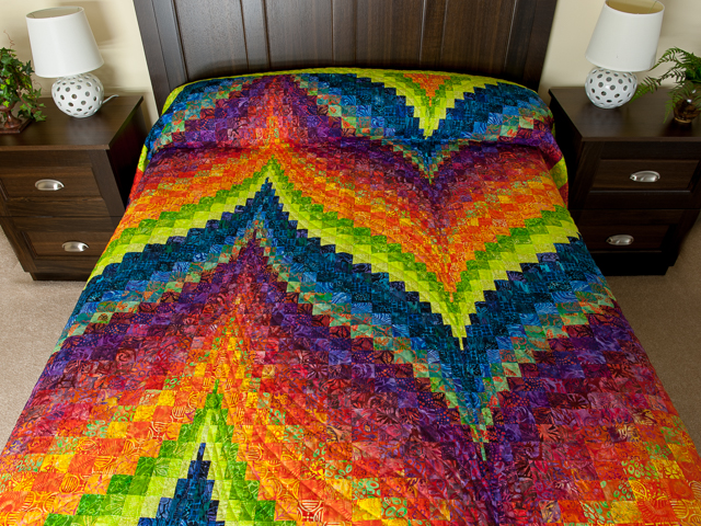 Bargello Flame - Brilliant ! King bed size Photo 1