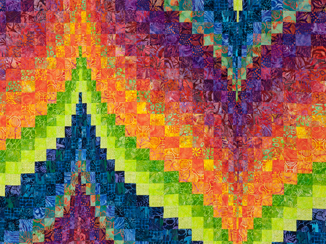 Bargello Flame - Brilliant ! King bed size Photo 3