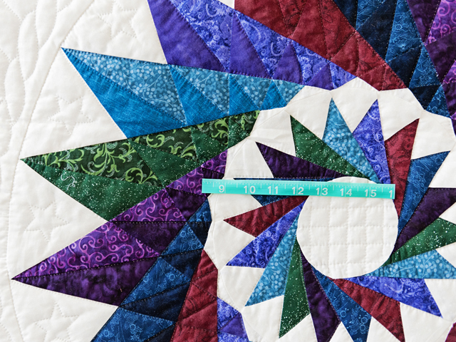Navy Star Compass Carpenter Wheel Quilt Photo 4