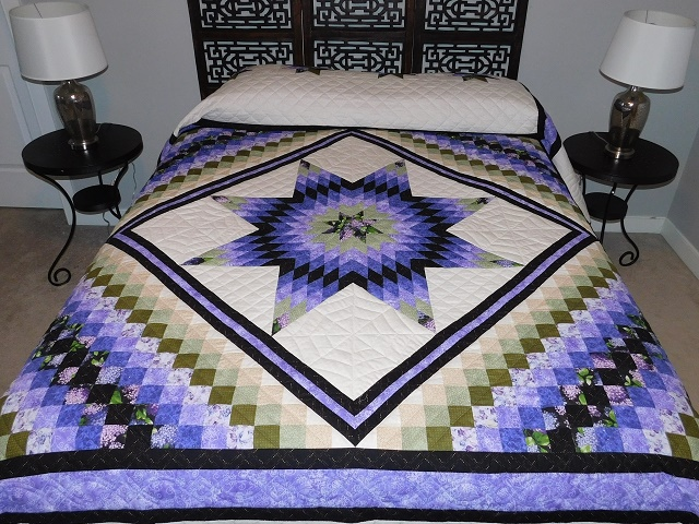 Purple and Green Lone Star Trip Quilt Photo 1