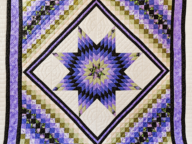 Purple and Green Lone Star Trip Quilt Photo 3