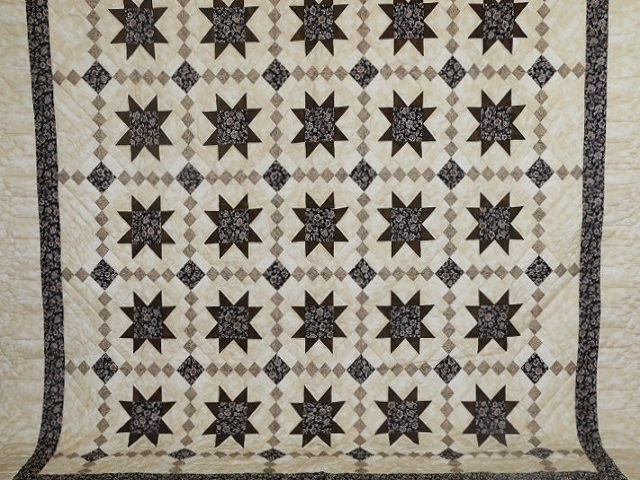 Brown Golden Cross Country Quilt Photo 2